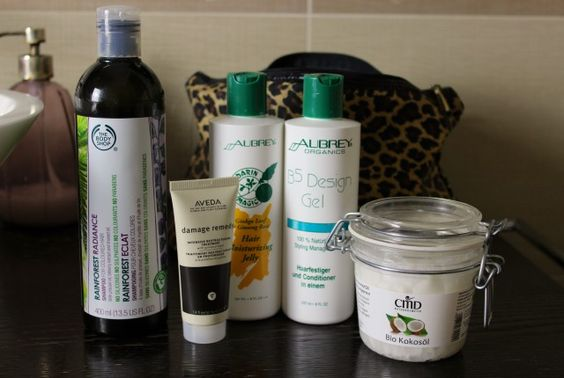the body shop rainforest, aveda damaged hair mask, coconut oil