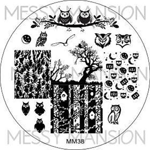 Messy Mansion Image Plate MM38