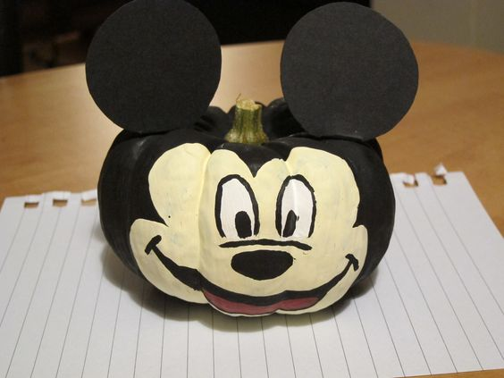 Painted Mini Pumpkins Disney Themed Crafts Pinterest