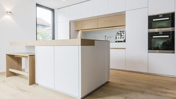 Küche Eiche Altholz , Beton Popp art Pinterest - küchen aus altholz