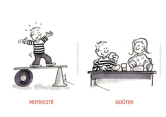 Images EDT : motricité + gouter