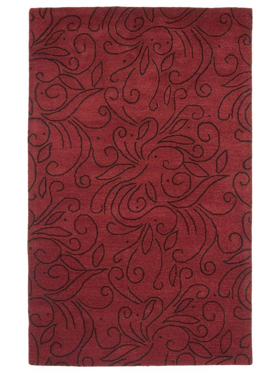 Decore 140  Columbine hand-tufted rug  Red  Love this rug, but do you see an octopus?
