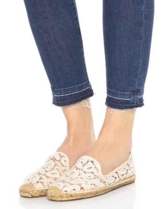 Lace Smoking Slipper Espadrilles