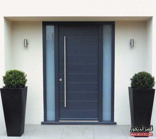 ابواب منازل اشكال ابواب خشب داخلية وخارجية للشقق قصر الديكور Modern Exterior Doors Contemporary Front Doors Exterior Front Doors