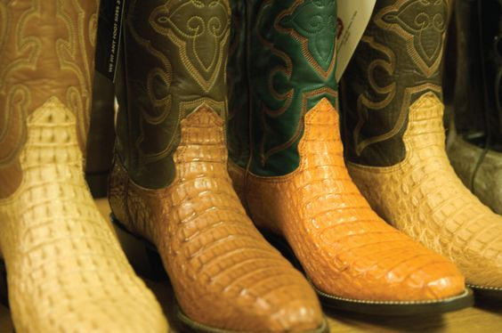 Downtown McAllen has a bustling shopping district - including many cowboy boot stores!
