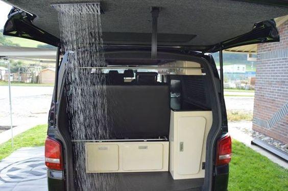 T5 Tailgate Shower Campervan Pinterest Showers
