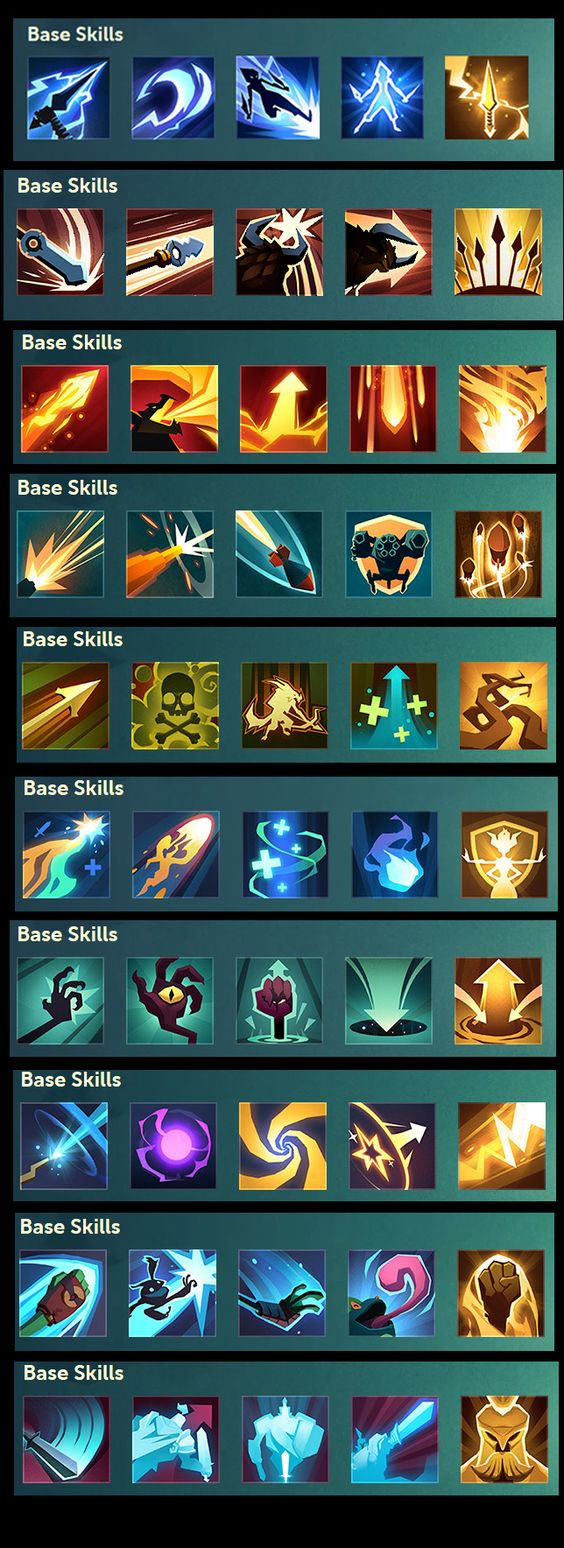 Strong, lively colored game icons