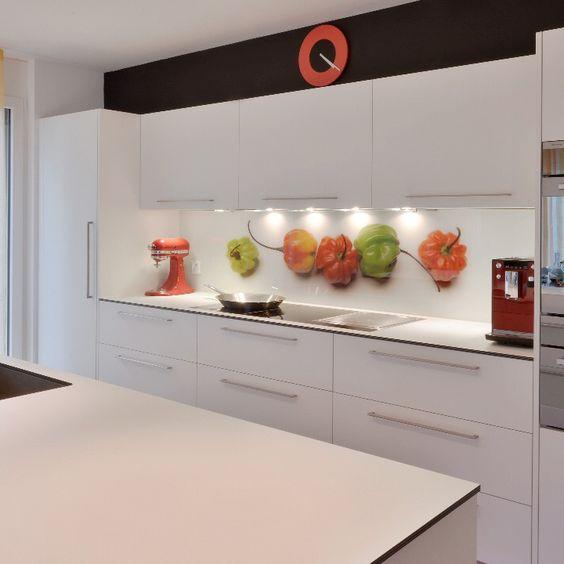 Küchenrückwand aus Glas bedruckt mit Motiv  - küchenrückwand glas bedruckt