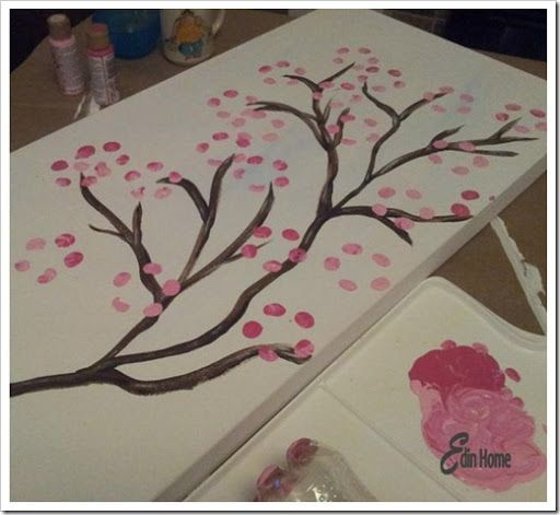 Easy canvas painting, Canvases and Idea paint on Pinterest
