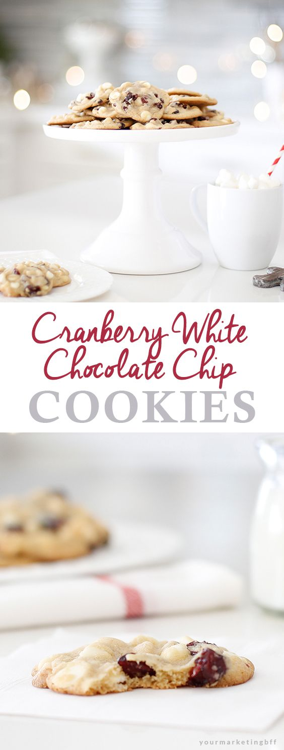 Today I'm joining some of my close blog friends for a Christmas Cookie Exchange! And I'm sharing my favorite Cranberry White Chocolate Chip Cookies recipe.