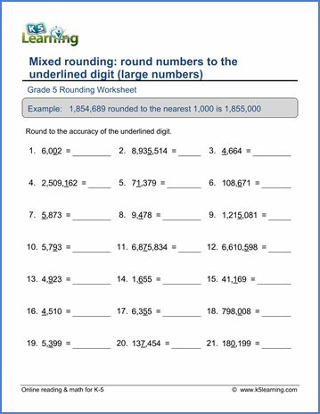 Grade 5 Place Value Rounding Worksheets Free Printable Place Value Worksheets Rounding Worksheets 4th Grade Math Worksheets