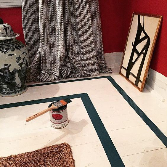 painted floor - william mclure