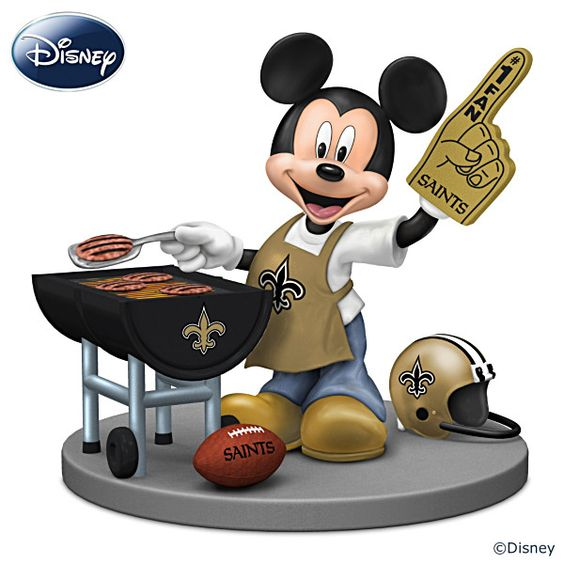 Nike NFL Jerseys - Disney New Orleans Saints Fired Up For A Win Figurine | New ...