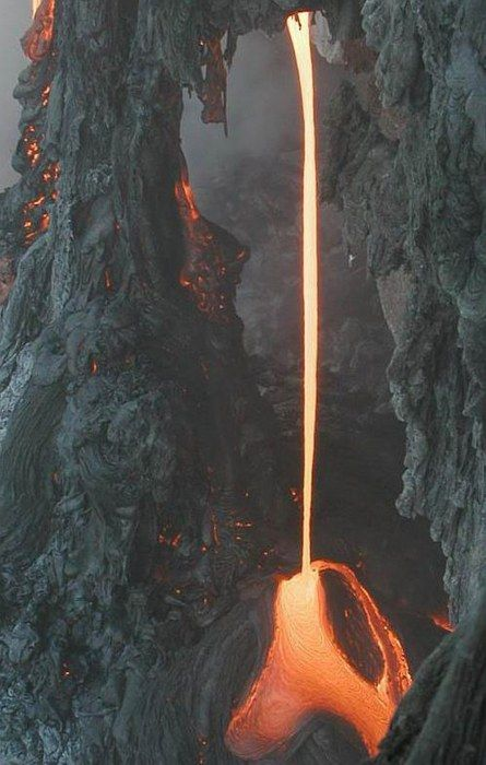 lava melting rock