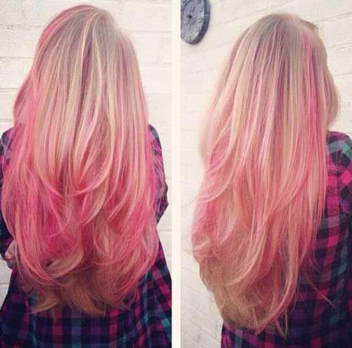 30 Rosa Blonde Haarfarbe Blonde Hair With Pink Highlights