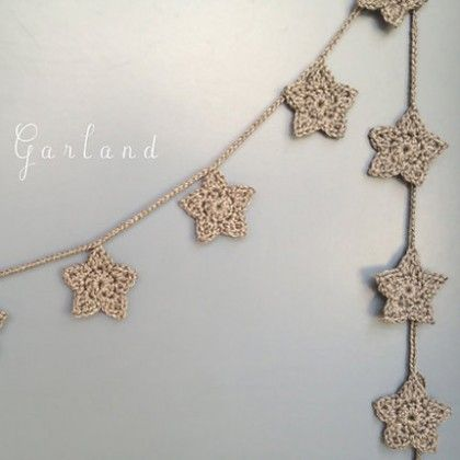 Star Garland, Crochet Star Garland