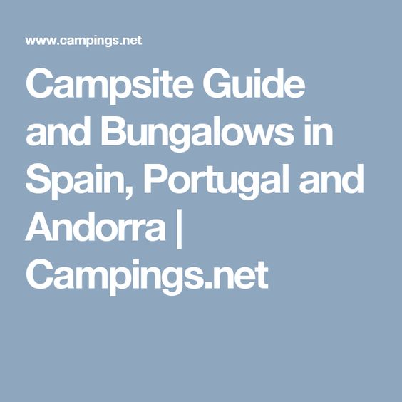 Campsite Guide and Bungalows in Spain, Portugal and Andorra | Campings.net