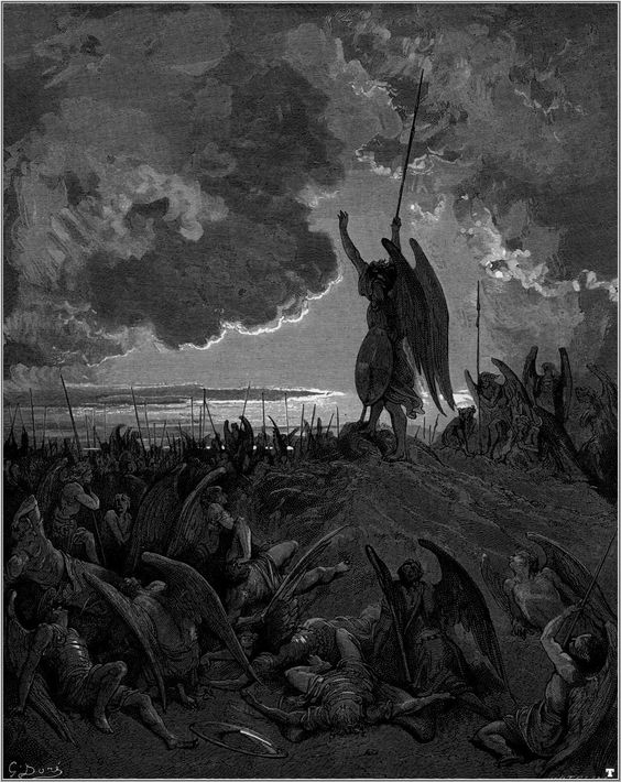 """Fallen Angels; """"Paradise Lost"""" Illustrated by Gustave Dore"""