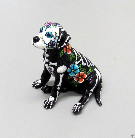 Day Of The Dead Dog Figurines