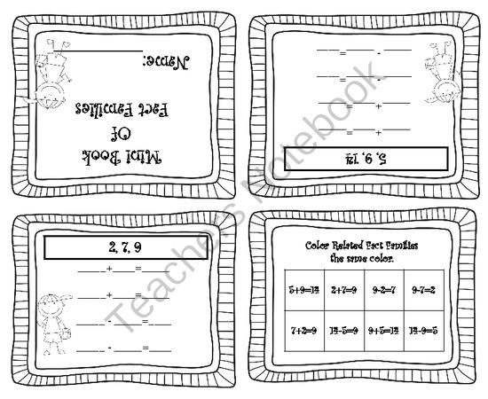 Pre School Worksheets : addition fact family worksheets 2nd grade ...