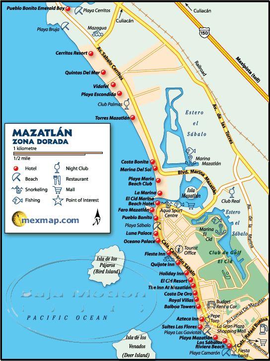 Mazatlan Map - Mazatlan Mexico Maps (Mazatlan, Mexico) mexicotravelnet.com