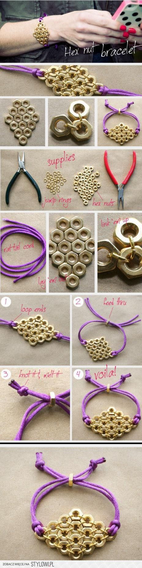 Hex Nut Bracelet - Japanese chainmail variation?