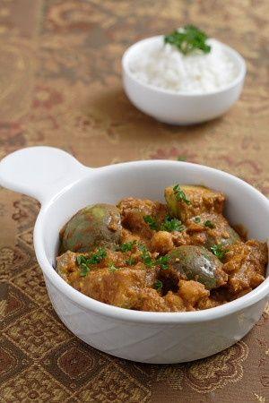 Thai Eggplants and Chickpeas in Peanut Masala | recipe from FatFree Vegan Kitchen