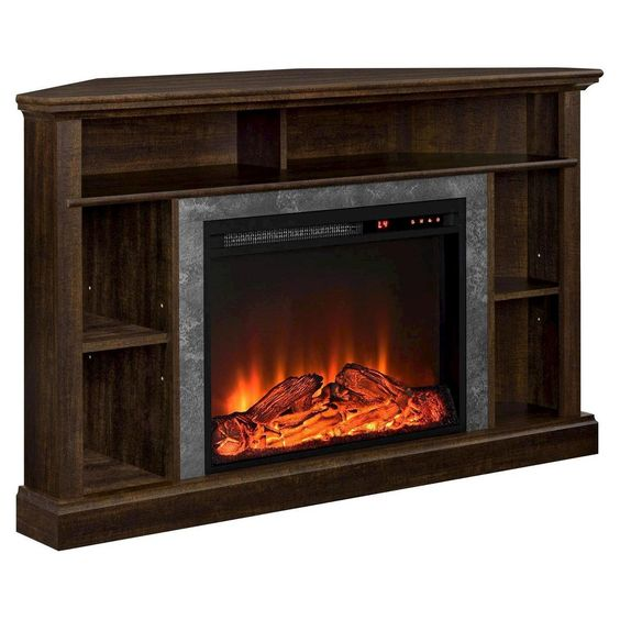 Ameriwood Home Rio Electric Corner Fireplace For Tvs Up To 50