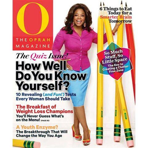 Oprah Magazine Subscription : $9 per year