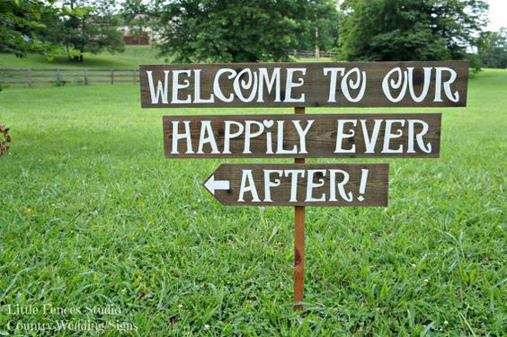 Wedding, Ever After And Outdoor Wedding Signs On Pinterest