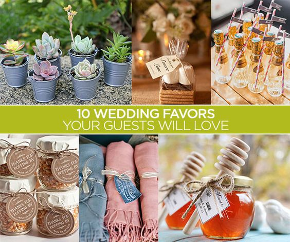 Wedding Take Home Gifts: 10 Wedding Favors Your Guests Will Love