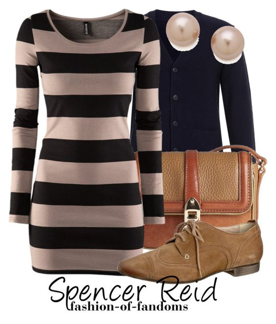 Spencer Reid by fofandoms on Polyvore featuring H&M, A.P.C., Manas, Burberry, Juliet & Company, criminal minds and spencer reid