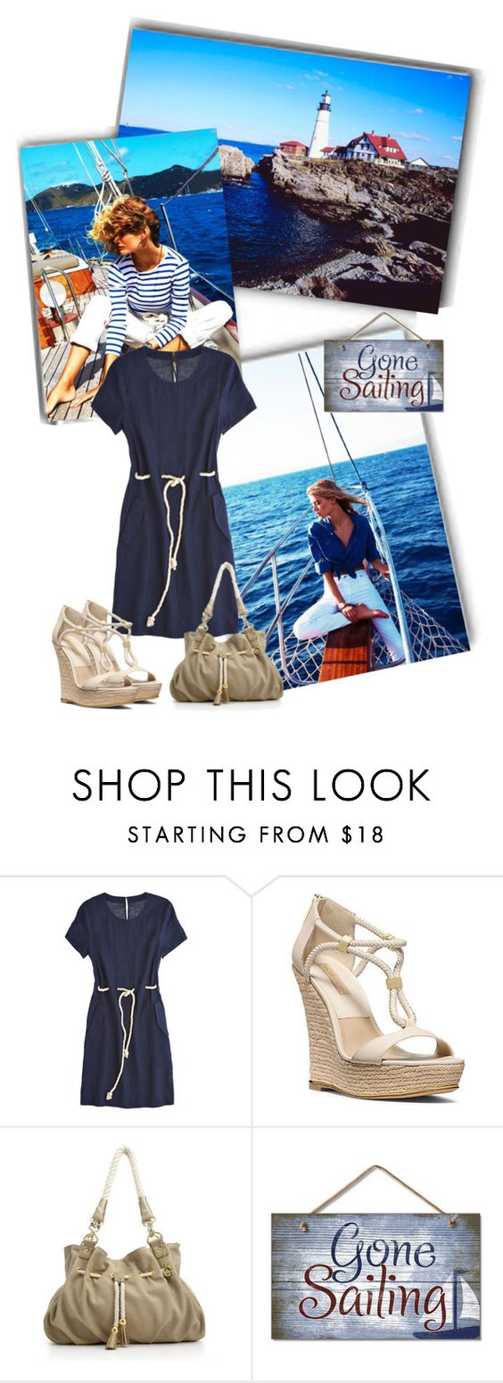 """""""Going sailing"""" by priscilla12 ❤ liked on Polyvore featuring Calypso St. Barth, Michael Kors, Big Buddha, Wedges and Nautical"""