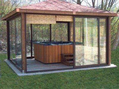 Gazebo with a HotTub