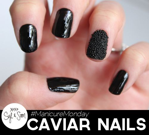 Syl and Sam, of Lipgloss & Black, join us for #manicuremonday and give us a tutorial on how to create caviar nails!