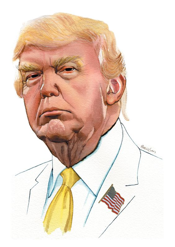 Donald Trump...with the permanent scowl. ew he's hard on the eye