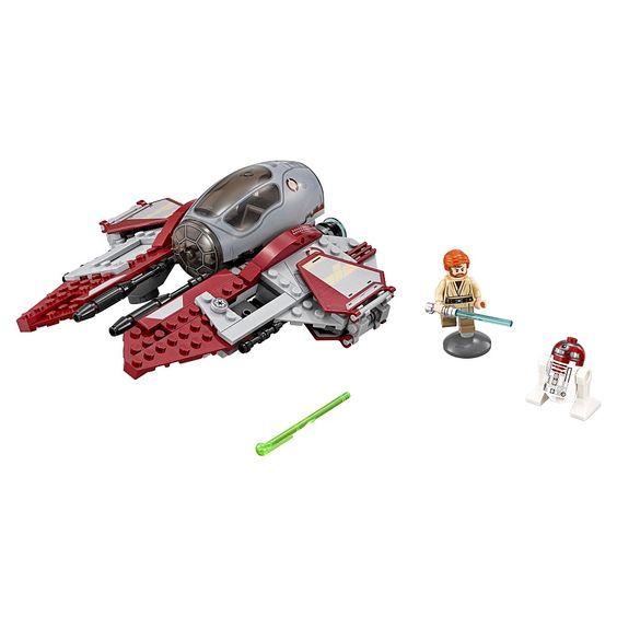 ¡El Interceptor Jedi de Obi-Wan dispone de cañones automáticos dobles y alas extensibles para ganar cualquier batalla al lado oscuro!