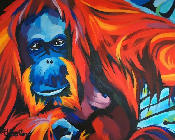 Ellie Benton retrata pessoas e animais com cores vibrantes - Foto: Ellie Benton