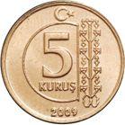 La moneda de 5 kuruş representa al árbol de la vida