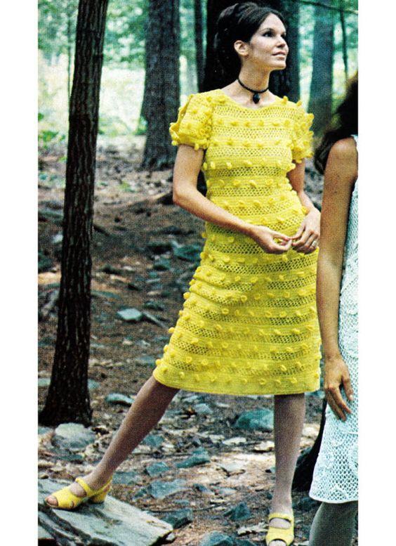 Aprendiz de Crocheteiras: Cardigan Crocheted, Crocheted Boho, Crochet Dresses, Crochet Vintage, Vintage Crochet Patterns, 1970S Crocheted, 1970S Boho, Boho Dress