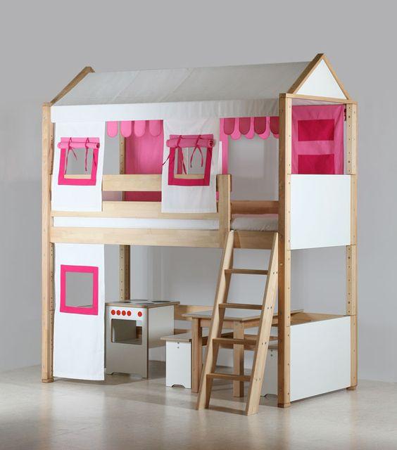 Le lit mezzanine enfant pour les petites filles par de for Chambre fille lit mezzanine