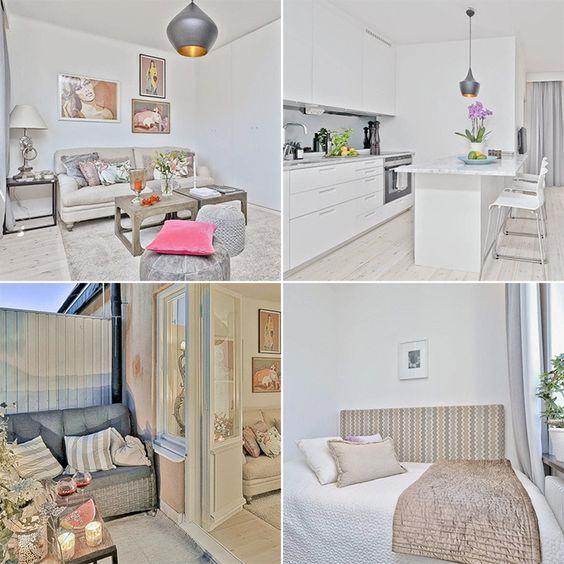 Dat mooi wonen niet altijd met de grootte van de woning te maken heeft bewijst dit zweedse - Hoe een studio van m te voorzien ...