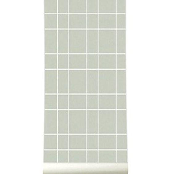 Papier peint grid gris de la Collection Natural - Roomblush