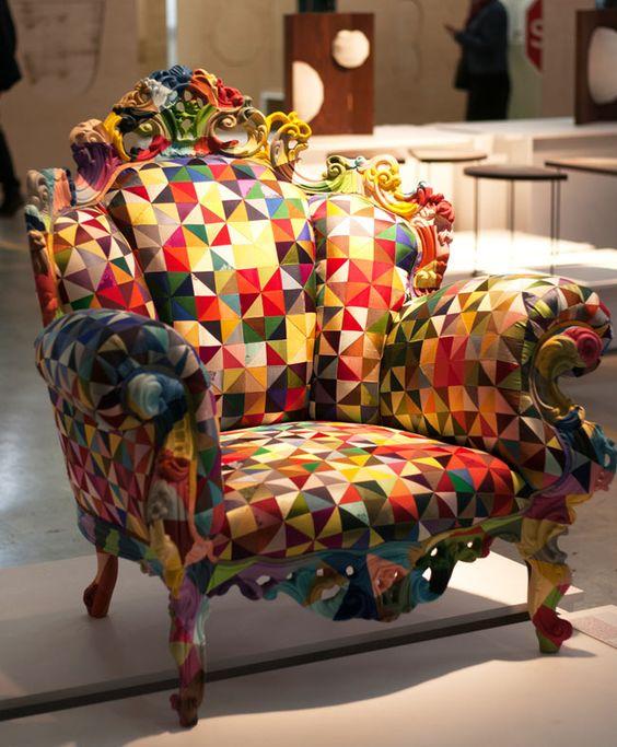 colourful armchair - patchwork Biennale du Design 2015