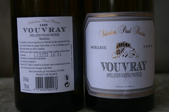 Sweet Vouvray wine from Paul Buisse