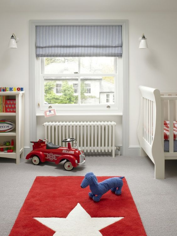 Roman shades roman and blue kids rooms on pinterest - Roman shades for kids room ...