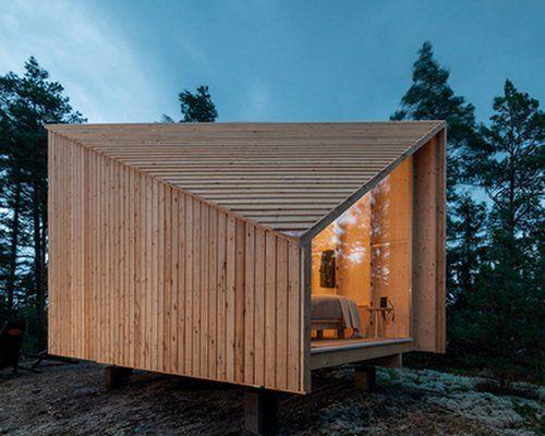 Studio Puisto Designs Space Of Mind A Modular Lightweight Cabin In 2020 Cabin Design Architecture Modular Cabins
