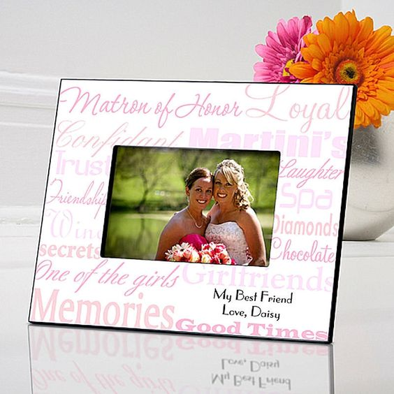 Matron of Honor Wedding in 7 Colors | Personalized Frame for 4x6 Photo
