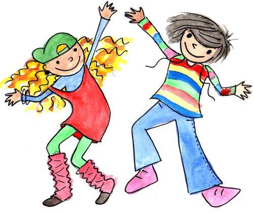 Resultat d'imatges de dibujo niños bailando