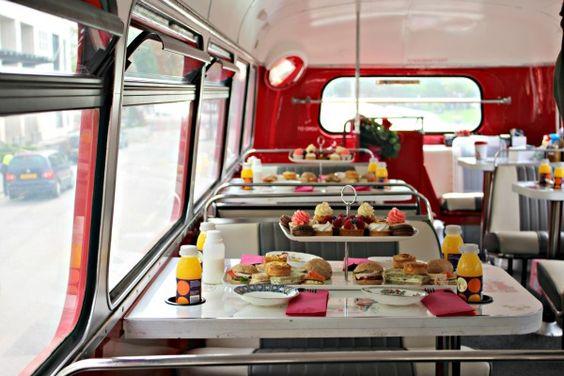 BB Afternoon Tea on a Double Decker Bus More info: https://teatimeinwonderland.co.uk/lang/en/2014/09/14/bb-afternoon-tea-on-a-double-decker-bus